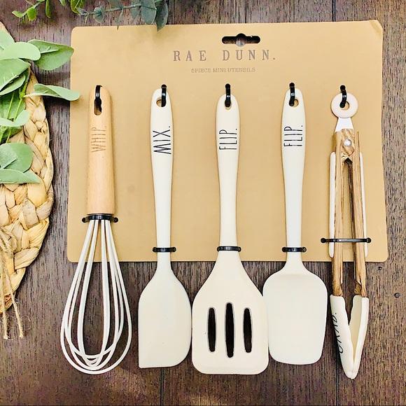 💗🏡RAE DUNN Cooking Baking 5 Pc Utensils Set!